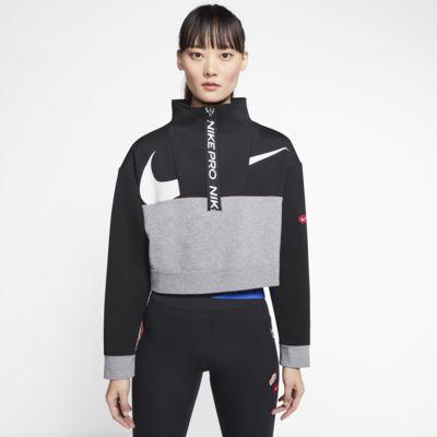 Damska kurtka z dzianiny z zamkiem 1/2 Nike Pro Get Fit Icon Clash