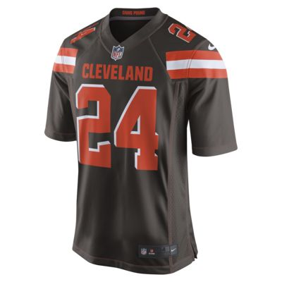 new product aec7f 6ff0c NFL Cleveland Browns (Nick Chubb) Men's Game Football Jersey