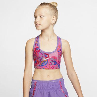 Nike Classic Omkeerbare sport-bh met print voor meisjes