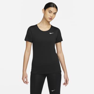 Kortärmad träningströja Nike Pro för kvinnor