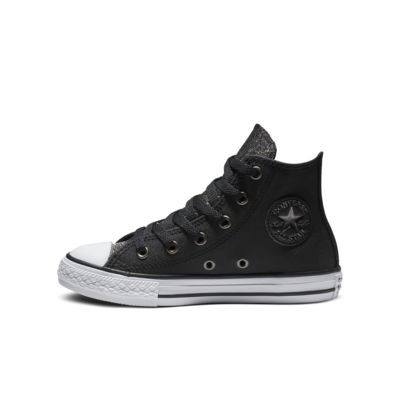 Converse Chuck Taylor All Star Graphite Glitter Leather High Top by Nike