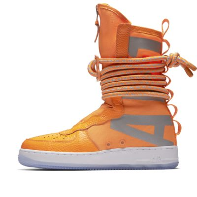 Nike SF Air Force 1 Hi Men's Lifestyle Boots Orange/White mC1976Z