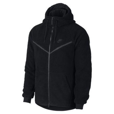 Sweat à capuche en Sherpa Nike Sportswear Windrunner Tech Fleece pour Homme