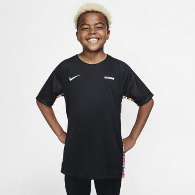 Fotbalové tričko Nike Dri-FIT Mercurial s krátkým rukávem pro větší děti