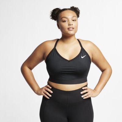 Nike Indy sports-BH med lett støtte til dame (store størrelser)