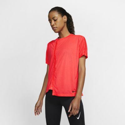 Nike Kurzarm-Laufoberteil für Damen