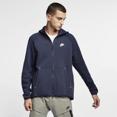 Nike Sportswear Tech Fleece hosszú cipzáras férfi kapucnis pulóver