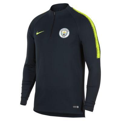 Manchester City FC Dri-FIT Squad Drill hosszú ujjú férfi futballfelső