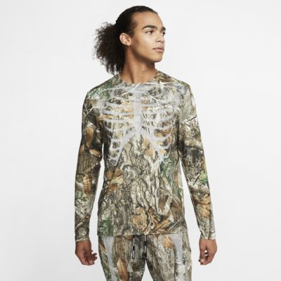 Nike Men's Long-Sleeve Skeleton Top