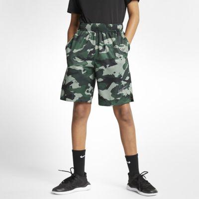 กางเกงเทรนนิ่งลายพรางขาสั้นเด็กโต Nike Dri-FIT (ชาย)