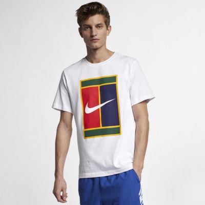 Męski T-shirt do tenisa z logo NikeCourt