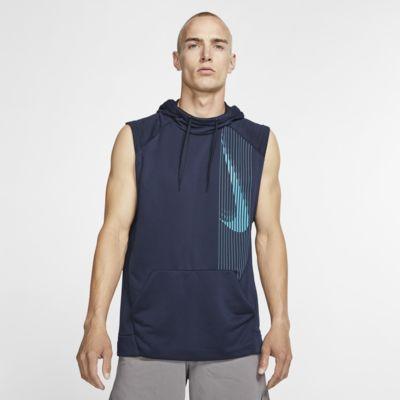 Nike Dri-FIT ermeløs treningshettegenser for herre