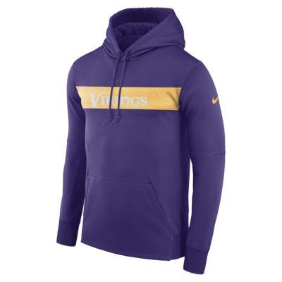 Nike Dri-FIT Therma (NFL Vikings) férfi belebújós kapucnis pulóver