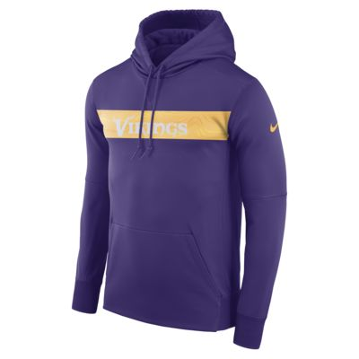 Nike Dri-FIT Therma (NFL Vikings) Men's Pullover Hoodie