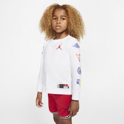 Langærmet Jordan Jumpman-T-shirt til små børn