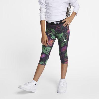 Nike Dri-FIT Little Kids' 3/4 Floral Leggings