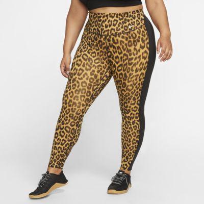Nike One Mallas de 7/8 con estampado de animal (Talla grande) - Mujer