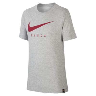 Playera de fútbol para niños talla grande Nike Dri-FIT FC Barcelona