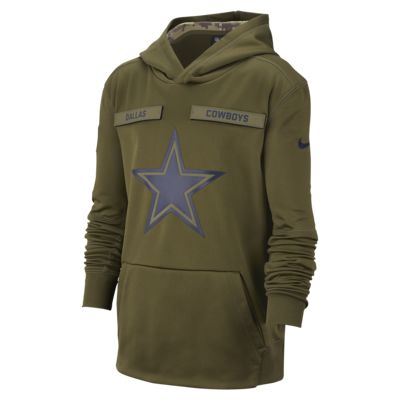 Nike Therma Salute to Service (NFL Cowboys) Big Kids' Hoodie