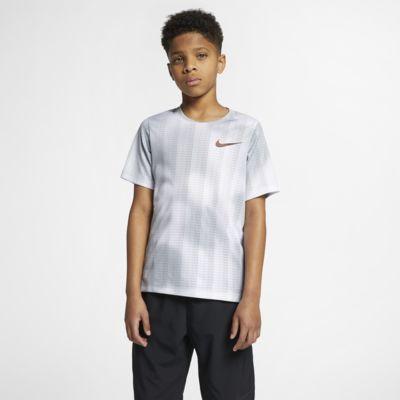 Prenda superior de entrenamiento de manga corta para niños talla grande Nike Instacool