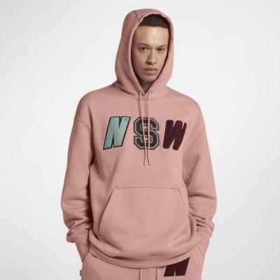 เสื้อมีฮู้ดผ้าฟลีซผู้ชายแบบสวม Nike Sportswear NSW