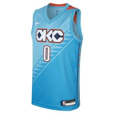 俄克拉荷马城雷霆队 City Edition SwingmanNike NBA Jersey 大童(男孩)球衣