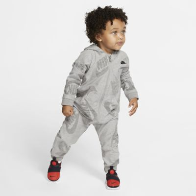 Nike Sportswear Coverall met rits en capuchon voor baby's (12-24 maanden)