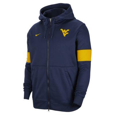 Nike College Therma (West Virginia) Men's Full-Zip Hoodie