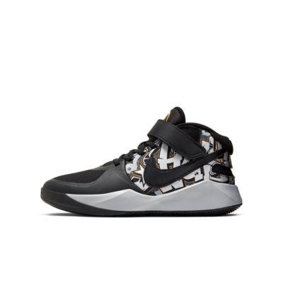 Nike Team Hustle D9 FlyEase Graffiti Big Kids' Basketball Shoe