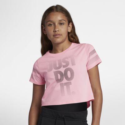 Укороченная футболка для девочек школьного возраста Nike Sportswear