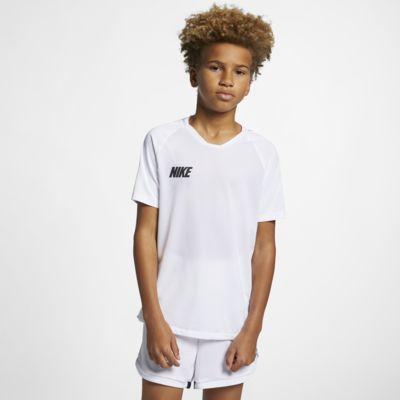 Prenda para la parte superior de fútbol de manga corta para niños talla grande Nike Breathe Squad