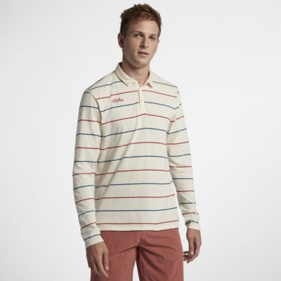 Hurley Channels Polo Camisa de manga larga - Hombre