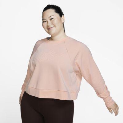 Γυναικεία μακρυμάνικη μπλούζα προπόνησης Nike Dri-FIT (μεγάλα μεγέθη)