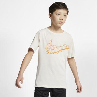 Tréninkový top s krátkým rukávem Nike Breathe pro větší děti (chlapce)