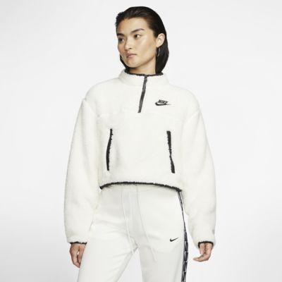 Nike Sportswear Çeyrek Fermuarlı Sherpa Fleece Kısa Kadın Üstü