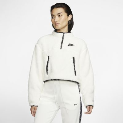 Nike Sportswear Women's 1/4-Zip Sherpa Fleece Crop Top