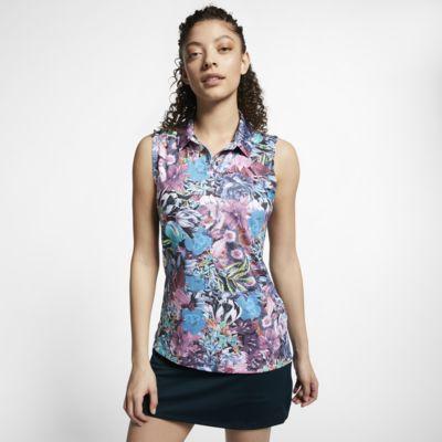 Nike Dri-FIT Golfpolo zonder mouwen met print voor dames