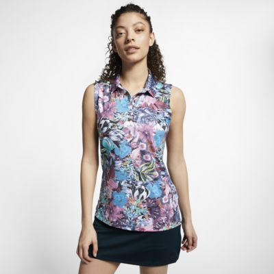 Nike Dri-FIT Women's Sleeveless Printed Golf Polo