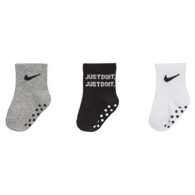 Nike Baby Gripper Ankle Socks (3-Pack)