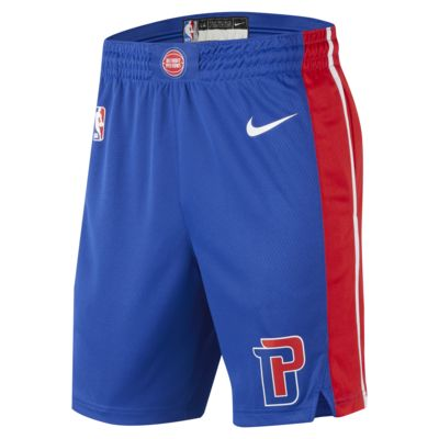 Shorts Nike de la NBA para hombre Detroit Pistons Icon Edition Swingman