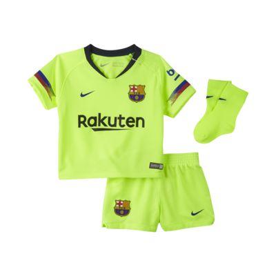 2018/19 FC Barcelona Stadium Away-fodboldsæt til babyer/småbørn