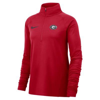 Nike College Therma (Georgia) Women's Long-Sleeve 1/2-Zip Top