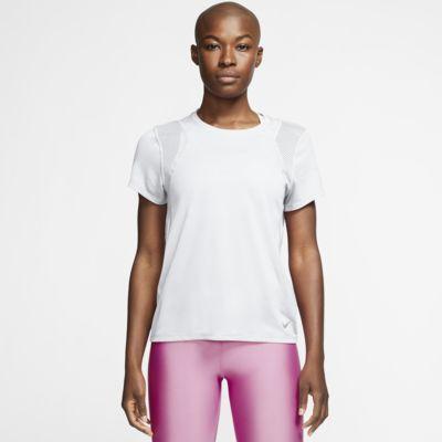 Top de running de manga corta para mujer Nike