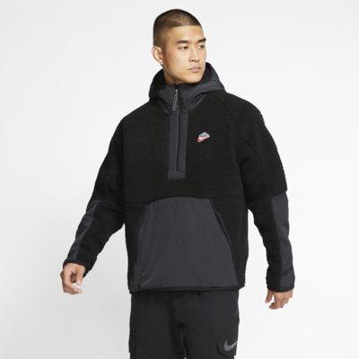 Nike Sportswear Sudadera de tejido Sherpa con capucha y media cremallera