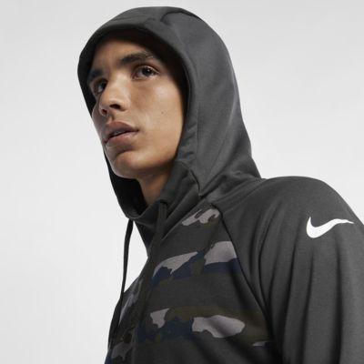 เสื้อเทรนนิ่งลายพรางมีฮู้ดผู้ชาย Nike Dri-FIT
