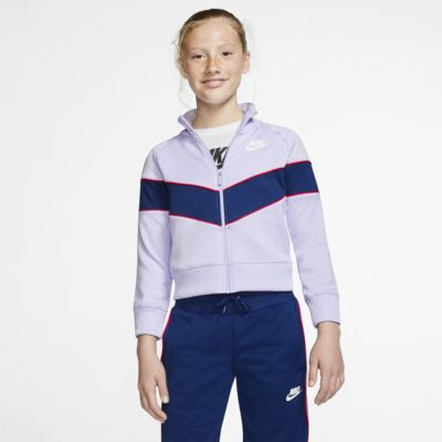 Bunda Nike Sportswear Heritage se zipem po celé délce pro větší děti (dívky)