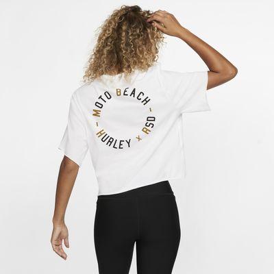 Haut court à manches courtes Hurley x Roland Sands Moto Beach pour Femme