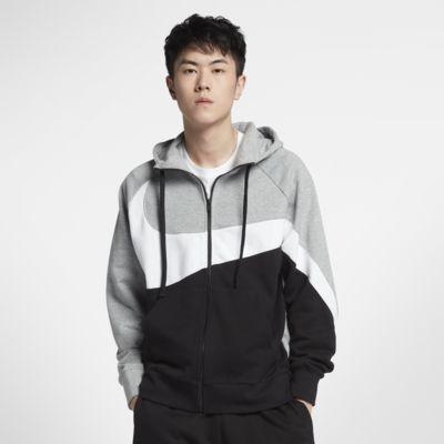 Nike Sportswear-frottéhættetrøje med lynlås til mænd