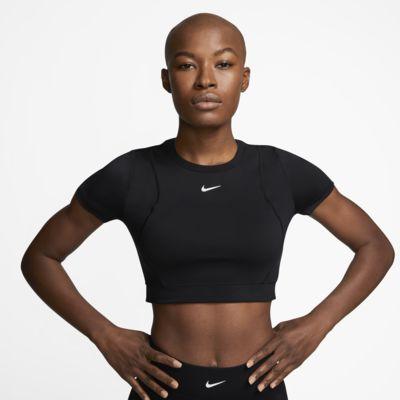 Γυναικεία μπλούζα με κοντό μήκος Nike Pro AeroAdapt