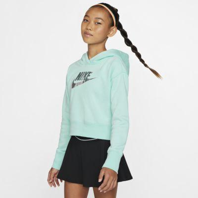 Sudadera con capucha corta para niña talla grande Nike Sportswear